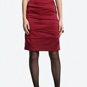 White House Black Market Ruby Satin Pencil Skirt